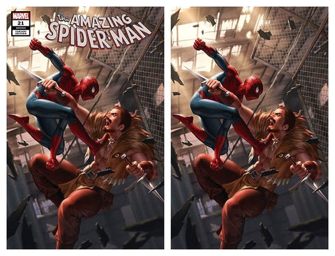 AMAZING SPIDER-MAN #21 JUNGGEUN YOON TRADE DRESS/VIRGIN VARIANT SET LIMITED TO 500 SETS WITH NUMBERED COA