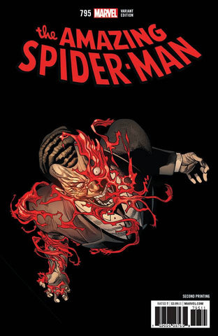 AMAZING SPIDER-MAN #795 2ND PRINT VARIANT LEG