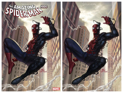 AMAZING SPIDER-MAN #800 IN HYUK LEE TRADE/VIRGIN VARIANT SET LIMITED TO 1000