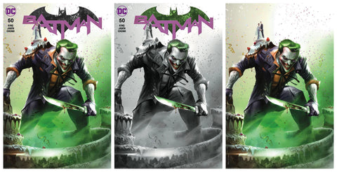 BATMAN #50 FRANCESCO MATTINA TRADE/BW/VIRGIN VARIANT SET LIMITED TO 1000 SETS