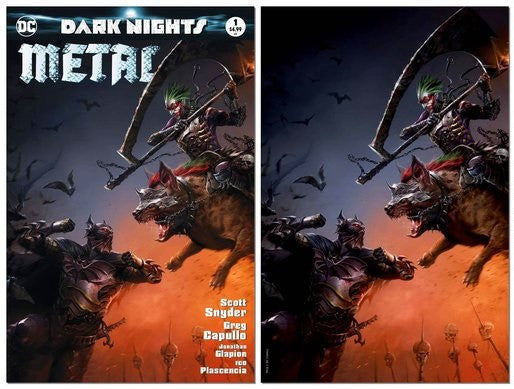DARK NIGHTS METAL #1 FRANCESCO MATTINA VARIANT MASKED SET