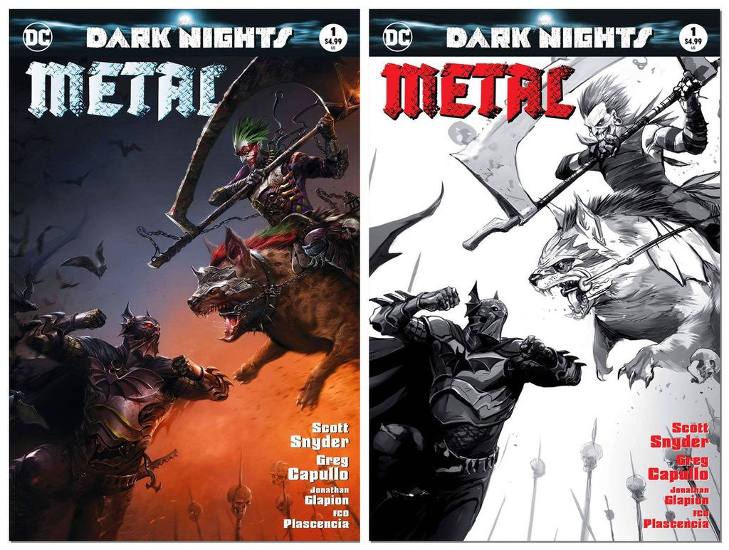 DARK NIGHTS METAL #1 FRANCESCO MATTINA TRADE VARIANT SET