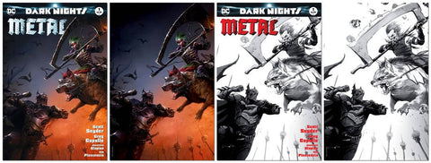 DARK NIGHTS METAL #1 FRANCESCO MATTINA VARIANT SKETCH & MASKED SET