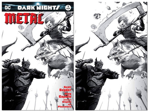 DARK NIGHTS METAL #1 FRANCESCO MATTINA VARIANT SKETCH SET