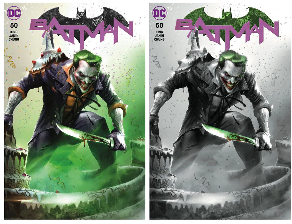 BATMAN #50 FRANCESCO MATTINA TRADE/BW VARIANT SET