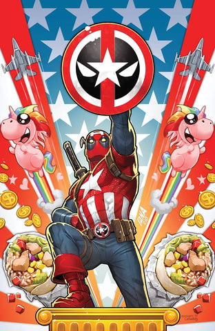 CAPTAIN AMERICA #701 NAKAYAMA DEADPOOL VIRGIN VARIANT LIMITED TO 1000