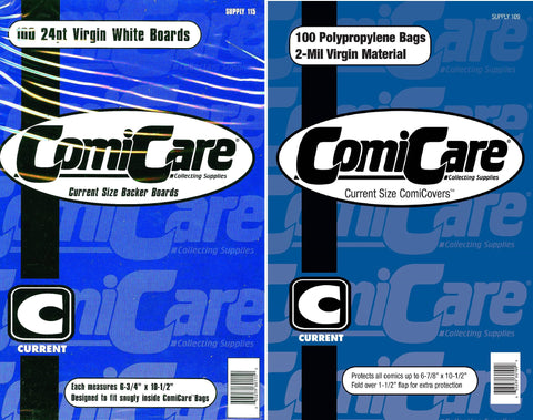 100X COMICARE CURRENT COMIC BAGS AND BOARDS - Sad Lemon Comics