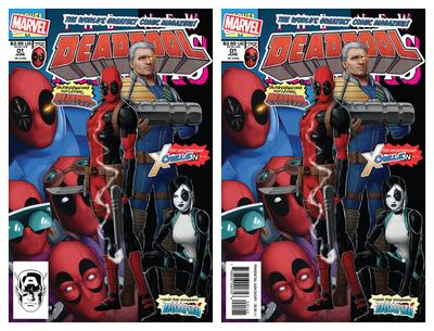 DEADPOOL #1 JOHN TYLER CHRISTOPHER NEW MUTANTS 98 HOMAGE/NEWSTAND VARIANT SET LIMITED TO 1000