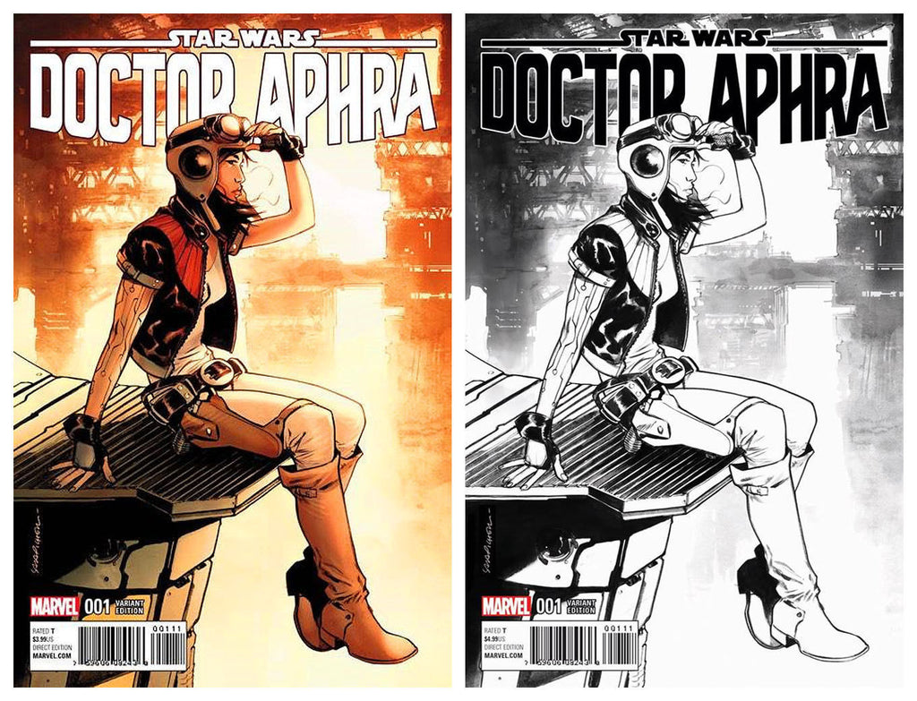 STAR WARS : DR APHRA #1 SARA PICHELLI VARIANT COLOR & BW - Sad Lemon Comics