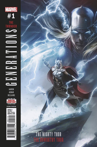 GENERATIONS UNWORTHY THOR & MIGHTY THOR #1 FRANCESCO MATINA 2ND PRINT VARANT