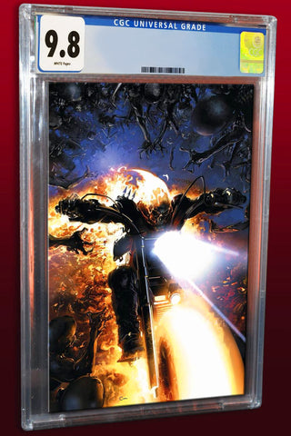 DAMNATION JOHNNY BLAZE GHOST RIDER #1 VIRGIN VARIANT LIMITED TO 1000 AVAILABLE FOR SALE WORLDWIDE CGC 9.8 PREORDER