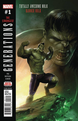 30/08/2017 GENERATIONS BANNER HULK & TOTALLY AWESOME HULK #1 2nd PRINT FRANCESCO MATTINA VARIANT