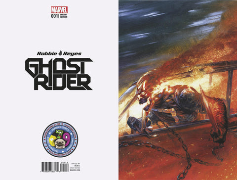 NOW GHOST RIDER #1 GABRIELE DELL'OTTO COLOR B&W SECRET VARIANTS - Sad Lemon Comics