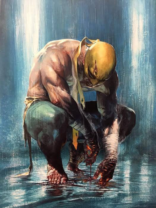 IRON FIST #1 GABRIELE DELL'OTTO VARIANT COLOUR, B&W AND VIRGIN - Sad Lemon Comics