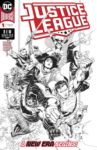 JUSTICE LEAGUE #1 1:100 JIM CHEUNG INKS ONLY VARIANT