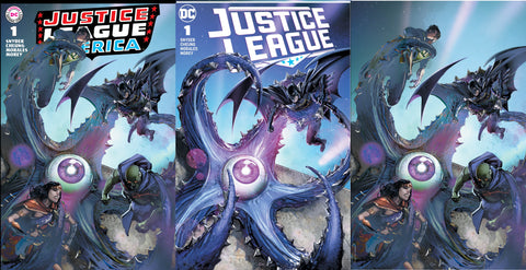 JUSTICE LEAGUE #1 CLAYTON CRAIN BRAVE & BOLD 28 HOMAGE TRADE DRESS/VIRGIN SET LIMITED TO 600 SETS+ SECRET MODERN COVER
