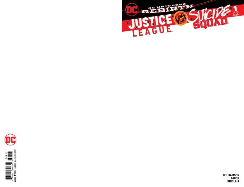 JUSTICE LEAGUE VS SUICIDE SQUAD #1 BLANK VARIANT - Sad Lemon Comics
