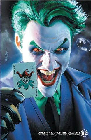 JOKER YEAR OF THE VILLAIN #1 MIKE MAYHEW BAT SIGNAL MINIMAL TRADE VARIANT LIMITED TO 1000