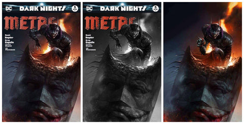 DARK NIGHTS METAL #5 FRANCESCO MATTINA TRADE/BW/VIRGIN SET LIMITED TO 600