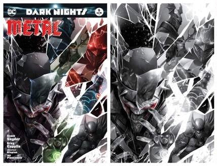 DARK NIGHTS METAL #6 FRANCESCO MATTINA TRADE DRESS/BW VARIANT SET LIMITED TO 700