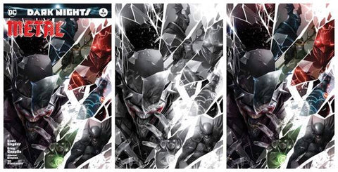 DARK NIGHTS METAL #6 FRANCESCO MATTINA TRADE DRESS/BW/VIRGIN VARIANT SET LIMITED TO 700