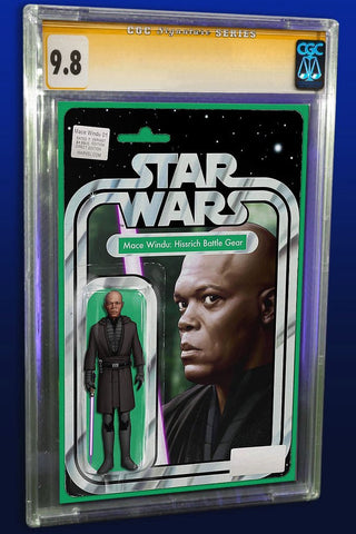 STAR WARS JEDI REPUBLIC MACE WINDU #1 EXCLUSIVE JOHN TYLER CHRISTOPHER ACTION FIGURE VARIANT LTD TO 3000 CGC 9.8 SS SIGNED BY JTC