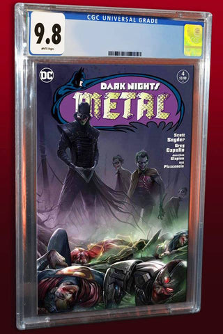 DARK NIGHTS METAL #4 FRANCESCO MATTINA HOMAGE TRADE DRESS VARIANT LIMITED TO 600 CGC 9.8 PREORDER