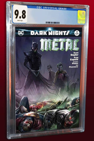 DARK NIGHTS METAL #4 FRANCESCO MATTINA TRADE DRESS VARIANT LIMITED TO 3000 CGC 9.8 PREORDER