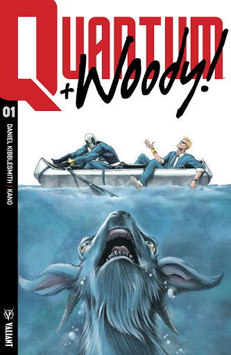 QUANTUM & WOODY (2017) #1 MIKE ROOTH VARIANT JAWS HOMAGE LIMITED TO 500 COPIES
