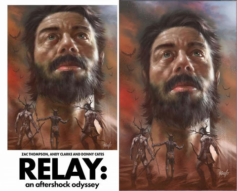 RELAY #1 LUCIO PARRILLO 2001 SPACE ODYSSEY HOMAGE/VIRGIN COVER SET LIMITED TO 250 SETS