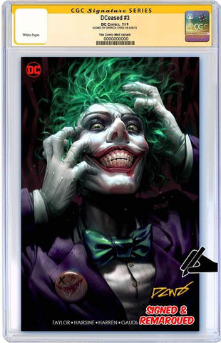 DCEASED #3 DERRICK CHEW MINIMAL TRADE DRESS VARIANT LIMITED TO 1000 CGC REMARK PREORDER
