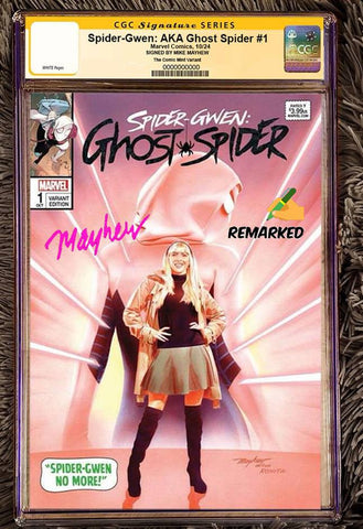 SPIDER-GWEN AKA GHOSTSPIDER #1 MIKE MAYHEW ASM 50 HOMAGE TRADE VARIANT LIMITED TO 600 CGC REMARK PREORDER
