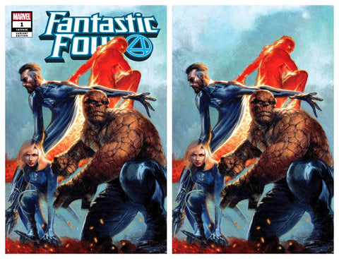 FANTASTIC FOUR #1 GABRIELE DELL'OTTO TRADE/VIRGIN VARIANT SET LIMITED TO 1000