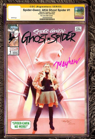 SPIDER-GWEN AKA GHOSTSPIDER #1 MIKE MAYHEW ASM 50 HOMAGE TRADE VARIANT LIMITED TO 600 CGC SS PREORDER