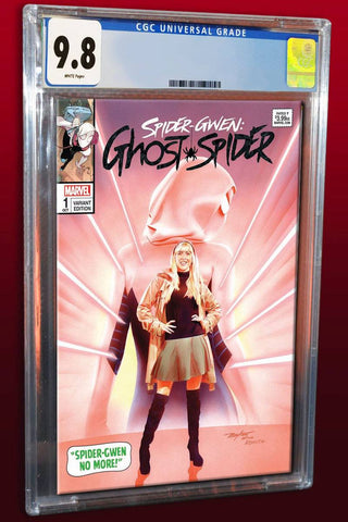 SPIDER-GWEN AKA GHOSTSPIDER #1 MIKE MAYHEW ASM 50 HOMAGE TRADE VARIANT LIMITED TO 600 CGC 9.8 PREORDER