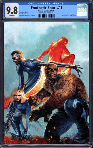 FANTASTIC FOUR #1 GABRIELE DELL'OTTO VIRGIN VARIANT LIMITED TO 1000 CGC 9.8 PREORDER