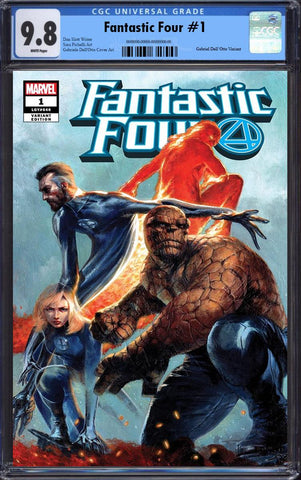 FANTASTIC FOUR #1 GABRIELE DELL'OTTO TRADE DRESS VARIANT LIMITED TO 3000 CGC 9.8 PREORDER