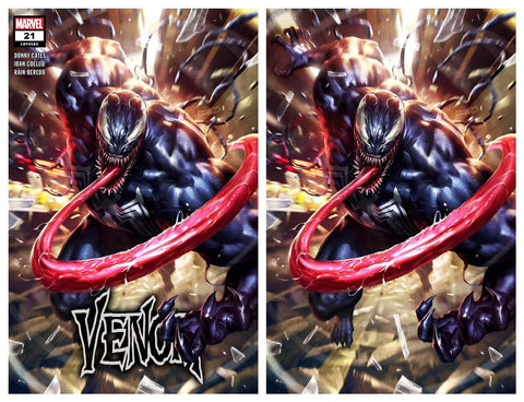 VENOM #21 DERRICK CHEW TRADE/VIRGIN VARIANT SET LIMITED TO 800 SETS WITH NUMBERED COA