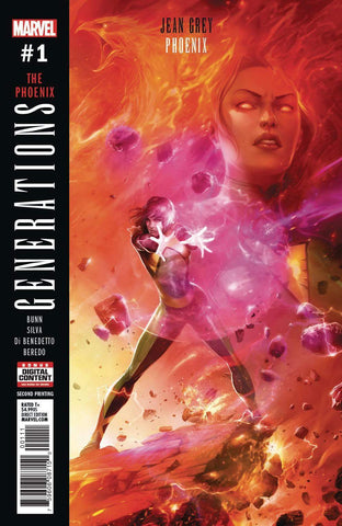 06/09/2017 GENERATIONS PHOENIX & JEAN GREY #1 2ND PRINT MATTINA VA