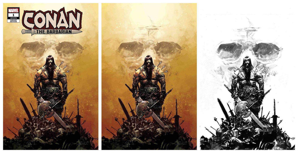 CONAN THE BARBARIAN #1 GERARDO ZAFFINO COLOUR/INKED VIRGIN VARIANT LIMITED TO 500 SETS & 1:25 TRADE DRESS VARIANT