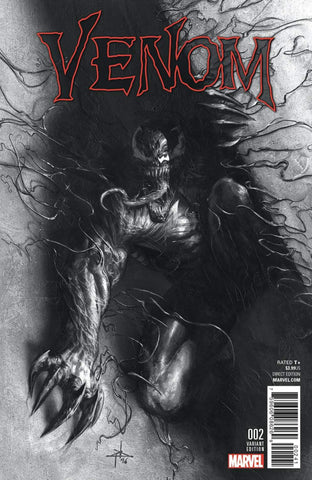 NOW VENOM #2 GABRIELE DELL'OTTO VARIANT COLOR & BW - Sad Lemon Comics