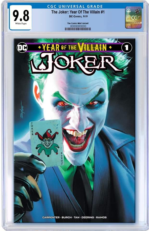JOKER YEAR OF THE VILLAIN #1 MIKE MAYHEW TRADE DRESS VARIANT LIMITED TO 3000 CGC 9.8 PREORDER