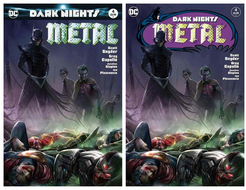 DARK NIGHTS METAL #4 FRANCESCO MATTINA TRADE & HOMAGE TRADE VARIANT SET LIMITED TO 600