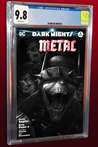 DARK NIGHTS METAL #2 FRANCESCO MATTINA B&W VARIANT LIMITED TO 700 WORLDWIDE CGC 9.8 PREORDER