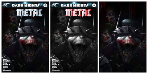 DARK NIGHTS METAL #2 FRANCESCO MATTINA TRADE/BW/VIRGIN SET LIMITED TO 700 SETS WORLDWIDE