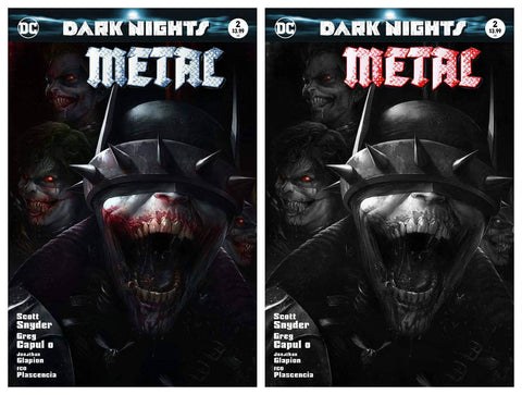 DARK NIGHTS METAL #2 FRANCESCO MATTINA TRADE/BW SET LIMITED TO 700 SETS WORLDWIDE