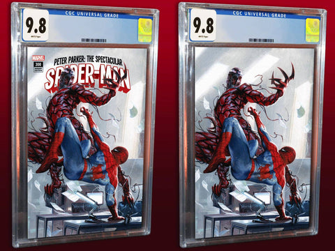 PETER PARKER SPECTACULAR SPIDER-MAN #300 GABRIELE DELL'OTTO TRADE/VIRGIN VARIANT SET LIMITED TO 1000 COPIES BOTH CGC 9.8 PREORDER