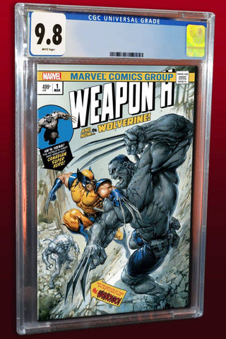 WEAPON H #1 CLAYTON CRAIN HULK 181 HOMAGE TRADE DRESS VARIANT LIMITED TO 3000 CGC 9.8 PREORDER