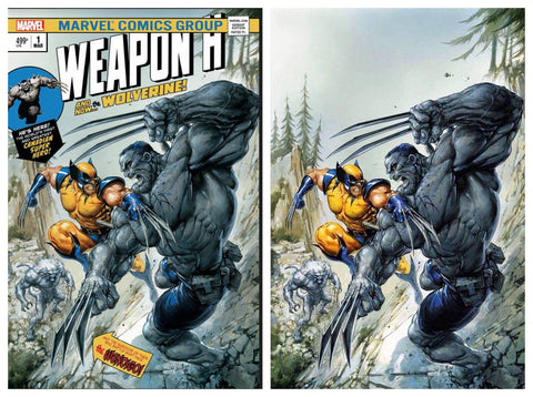 WEAPON H #1 CLAYTON CRAIN HULK 181 HOMAGE VIRGIN VARIANT SET LIMITED TO 1000 BOTH SIGNED BY CRAIN