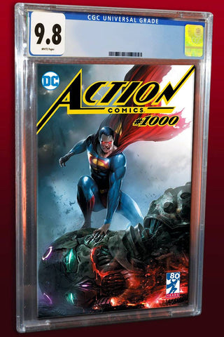 ACTION COMICS #1000 FRANCESCO MATTINA TRADE DRESS VARIANT LIMITED TO 3000 COPIES WORLDWIDE CGC 9.8 PREORDER